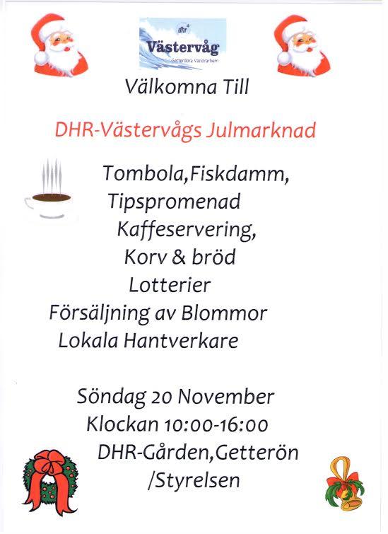 DHR julmarknad Västervåg